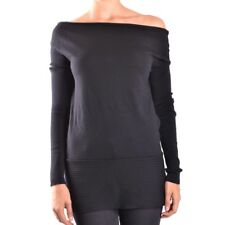 bc18758 LIVIANA CONTI T-SHIRT MANICA LUNGA NERO DONNA WOMEN'S BLACK LONG SLEEVES