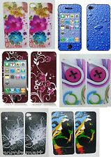 Pair Front Back Skin Sticker Case Screen Protector Cover Phone iPhone 4 4S 4GS