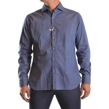 bc25858 BARBA NAPOLI CAMICIA BLU UOMO MEN'S BLUE SHIRT