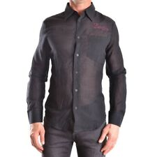 bc25087 FRANKIE MORELLO CAMICIA NERO UOMO MEN'S BLACK SHIRT
