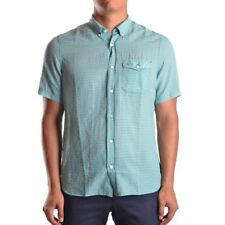 bc19234 BURBERRY CAMICIA VERDE UOMO MEN'S GREEN SHIRT