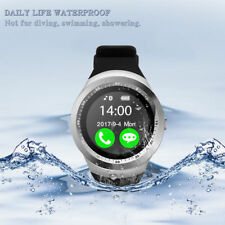 Y1 Bluetooth Smart Watch Contapassi Monitor sonno SIM TF PER ANDROID IOS