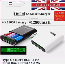 TOMO S4 POWER BANK 18650 Battery Charger Type C + Micro USB + 8 Pin IPHONE ANDRO