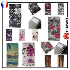 Etui Coque housse Cuir PU Leather Wallet Case Cover Gamme HUAWEI (all models)