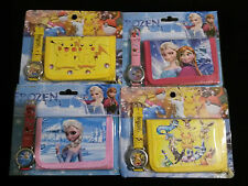 Pokemon and Frozen Kids Wrist Watch and Wallet set gift