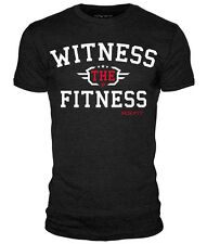 """rokfit """" WITNESS THE FITNESS """" t-shirt crossfit fitness sollevamento pesi"""