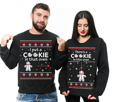 Christmas Matching Couple Unisex Sweatshirts Pregnancy Announcement Sweaters