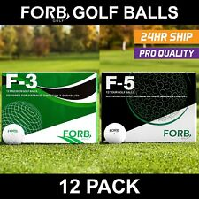 FORB F3 & F5 Golf Balls (12 Pack) - Expert Golf Balls For Control & Distance