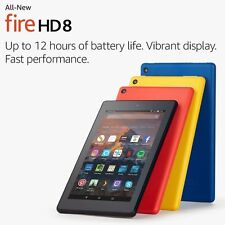 """Amazon All-New Fire HD 8 Tablet with Alexa 8"""" HD Display 16 GB Brand New-Sealed"""