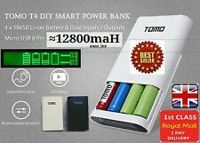 TOMO T4 POWER BANK 4 x 18650 Battery Charger Micro USB + 8 Pin IPHONE ANDROID