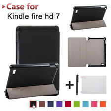 PLIABLE CUIR Etui housse de dos + FILM + Stylet pour Amazon Kindle Fire 7 2017