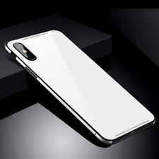 For iPhone X 8 Shockproof Tempered Glass Aluminum Metal Bumper Armor  Cover Case