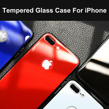 9H Tempered Glass Back Bumper Protective Cover Case For iPhone X 8 7 6s 6 Plus