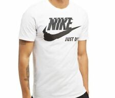 2018 Mens Nike Ultra Swoosh JUST DO IT Swoosh T Shirt Top Size  M-2XL white/Blk