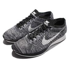 Nike Flyknit Racer Cookie Oreo Black White Mens Running Shoes NWOB 526628-012