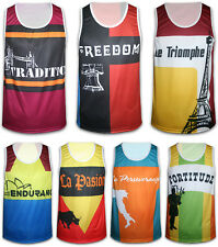 Mens Sleeveless Shirt Breathable Cool Dry Running Singlet Gym Top Jogging Wear