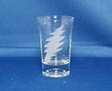 Grateful Dead 13 Point Lightning Bolt 1.5 oz. Sandblasted Etched Shot Glass