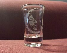 Jerry Garcia Crescent Moon Face 1.5 oz. Sandblasted Etched Shot Glass