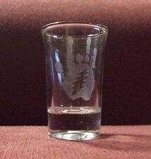Jerry Garcia Handprint with Lightning Bolt 1.5 oz. Sandblasted Etched Shot Glass