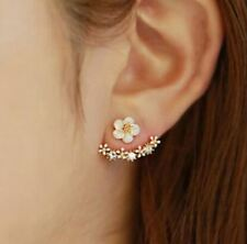 Jisensp New Arrival Crystal Flower Stud Earrings Piercing Earring Fashion Earrin