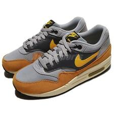 Nike Wmns Air Max 1 Essential Wolf Grey Gold Leaf Maize Women Shoes 599820-021
