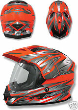 Casque Cross Motard Enduro ATV AFX FX-39 DS Safety Orange taille L 60 61