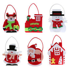 Christmas Non-Woven Cookie Candy Toy Gift Treat Bag Holder Xmas Party Favor Bags