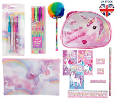 RAINBOWS & UNICORNS  🦄 STATIONERY Colouring Pencils Case Gel Pens Pencil Pad
