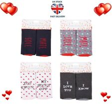LADIES NOVELTY SOCKS 4 Designs Love Hearts Soul Mates Birthday Anniversary Gift