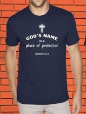 Place of Protection Christian Faith Religion Holy Bible Jesus Christ God T Shirt