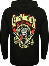GAS MONKEY GARAGE FELPA CON CAPPUCCIO sparkplugs Black