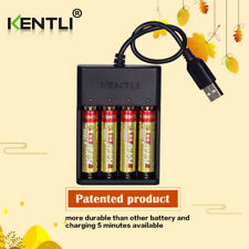 PILE ACCU RECHARGEABLE AA 2800Mwh LITHIUM Li-ion 1.5V KENTLI R6 PH6 + CHARGEUR