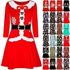 Kids Girls Christmas Xmas Ribbon Ribbon Candy Stick Children Swing Mini Dress