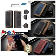 Etui Housse DENIM Cuir PU Leather Case Samsung Galaxy Note 8 Note 9  S9 S8 S7