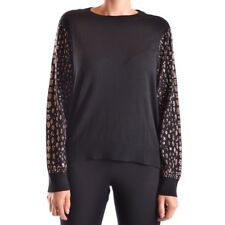 bc20937 MICHAEL KORS T-SHIRT MANICA LUNGA NERO DONNA WOMEN'S BLACK LONG SLEEVES