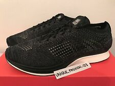 NIKE FLYKNIT RACER BLACKOUT UK 9 10 11 TRIPLE BLACK WHITE SOLE LAB  526628-005