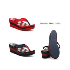 Tommy Hilfiger Womens Tango Red/ Midnight Blue Wedge Flip Flop UK Sizes [3.5-7]