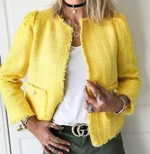 AUTHENTIC ZARA WOMAN BEAUTIFUL ELEGANT KNITTED BLAZER JACKET COAT ALL SIZES NEW