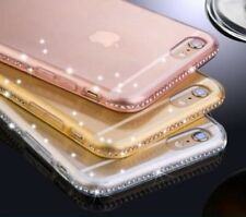 De Lujo Ultra Fino Cristal Diamante Brillante Funda de GEL F iPhone SE 5s 6S 7
