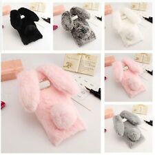 Rabbit Design Soft Fluffy Fur Protective Case Slim Back Cover For Samsung Galaxy