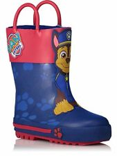 Paw Patrol Boys Pull On Chase Wellies Wellington Boots New