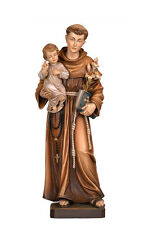 Saint Anthony of Padova statue wood carved handmade in Italy