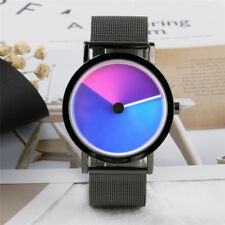 PAIDU Discolour Turntable Men Women Quartz Wrist Watch Stainless Steel Strap
