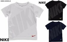 New Infant Boys Nike Metallic Mesh DriFit  Swoosh -T Shirt Top Size Age 3-7
