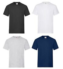 3 Or 5 Pack Men's Heavy Cotton Plain T-Shirt Fruit Of The Loom Short Sleeve New