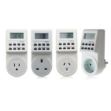 Electronic Digital Mains Plug-in Timer Socket  LCD Display 12/24 Hour 7 Days SG