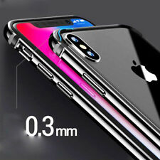 For iPhone X 8 Plus Case Aluminum Metal Hybrid Rubber Design Shockproof Covers