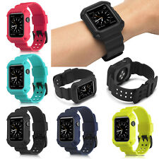 For Apple iWatch 38mm/42mm Band Silicone Rubber Replacement Durable Sport Strap