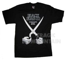 LICENSED BLACK FLAG Everything Went Black OLD School PUNK Rollins Mens T-Shirt