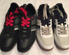 BRAND NEW! Tommy Hilfiger Low White/Black Casual Shoes Oxford Mens Size 8,